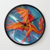 pain Wall Clocks featuring PAIN by STELZ (Vlad Shtelts)