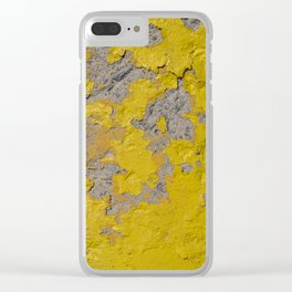 Yellow Peeling Paint on Concrete 1 Clear iPhone Case
