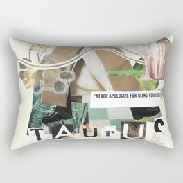 Taurus Intuitive Collage Rectangular Pillow