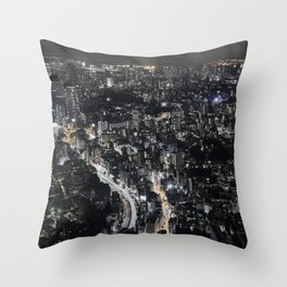 Tokyo by Night, Japan. Throw Pillow