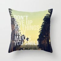 quotes Throw Pillows featuring QUOTES by magdam
