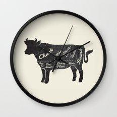Beef Butcher Diagram Wall Clock