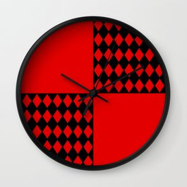 Chaotic Evil Harlequin Wall Clock