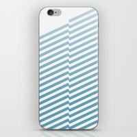 bands iPhone & iPod Skins featuring Blue Bands by blacknote