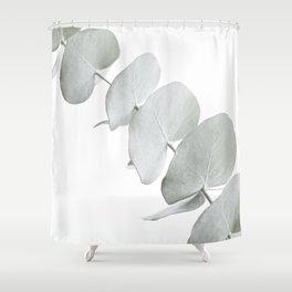 EUCALYPTUS WHITE 3 Shower Curtain