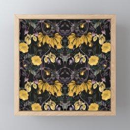 Nocturnal botanical garden kaleidoscope Framed Mini Art Print