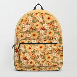 Fast Food Floral Backpack