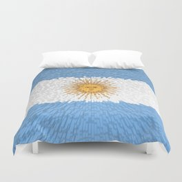 Extruded Flag of Argentina Duvet Cover