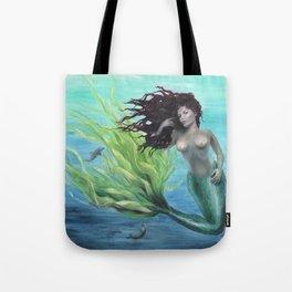 Calypso Nude Mermaid Underwater Tote Bag
