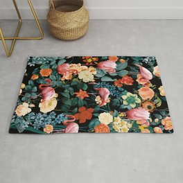 Floral and Flemingo II Pattern Rug