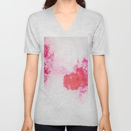 Red Smoke of Cloud Unisex V-Neck