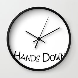 Mens Best Dad Hands Down Kids Craft Hand Print Fathers Day Shirt Wall Clock