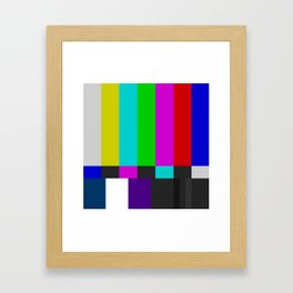 NTSC Color Bars Framed Art Print