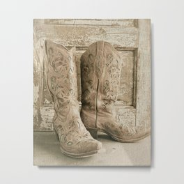 Cowgirl Chic Metal Print