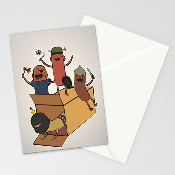 AT - Hog Dog Knights Stationery Cards
