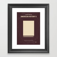 No247 My AMERICAN HISTORY X minimal movie poster Framed Art Print