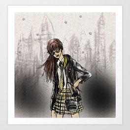 Wizard School Dreams - Hufflpuff Art Print