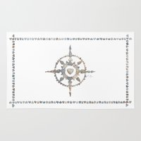 compass Area & Throw Rugs featuring Compass by loverocksme