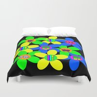 60s Duvet Covers featuring Flower Power 60s-70s by dedmanshootn