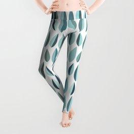 Mid-Century Modern Leaf pattern Collection 3 Leggings