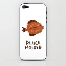Plaice Holder iPhone Skin