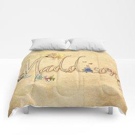 Maddison / Personalised Name Illustration Comforters