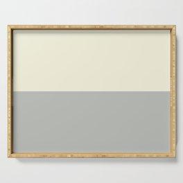 Benjamin Moore 2019 Color of Year Metropolitan AF-690 and Lemon Chiffon 932 Bold Horizontal Stripes Serving Tray