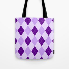 Purple Argyle Pattern Tote Bag