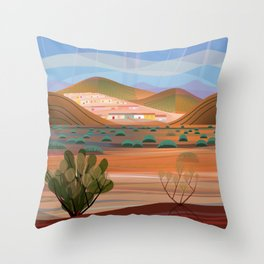 Copper Town (Square) Throw Pillow