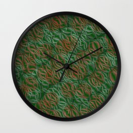 pattern from many circles shiny with metallic effect Wall Clock