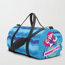 Cute Mermay Mermaid Art Challange Duffle Bag