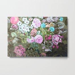 Happy Floral Metal Print
