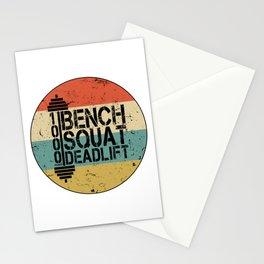 1000 Pounds Bench Squat Deadlift Powerlift Club Fitness Bodybuilder Bodybuilding Vintage Retro Stationery Cards