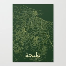 Tangier Streets Map Canvas Print