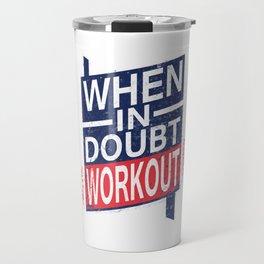 Workout Gym Bodybuilders Bodybuilding Weights Exercise Barbells Gift Travel Mug