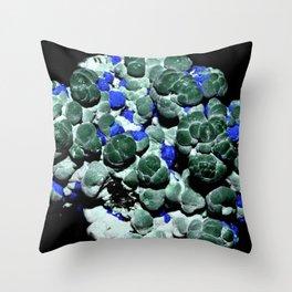 Malachite and Azurite Throw Pillow