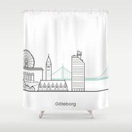 Göteborg in lines Shower Curtain