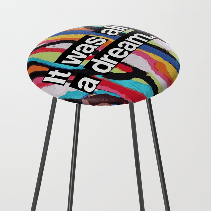 """It Was All A Dream"" Biggie Smalls Inspired Hip Hop Design Counter Stool"