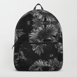 Gray Flowers Backpack