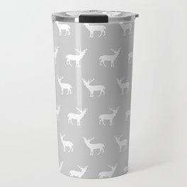 Deer pattern minimal nursery basic grey and white camping cabin chalet decor Travel Mug
