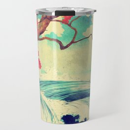 Waking to the Wild and Beautiful Ocean of Dhin Travel Mug