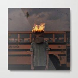 Burning thoughts  Metal Print