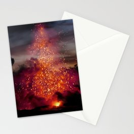 Kilauea Volcano at Kalapana 3a1 Stationery Cards