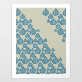 Blue drops Art Print