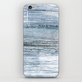 Pewter Blue abstract watercolor iPhone Skin