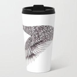 Zentangle Flying Duck Metal Travel Mug