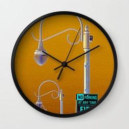fire line Wall Clock