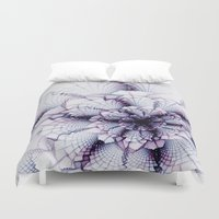 fabric Duvet Covers featuring Fabric Posies by Bunny Clarke