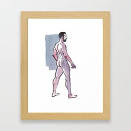 JOHN JAMES, Nude Male by Frank-Joseph Framed Art Print