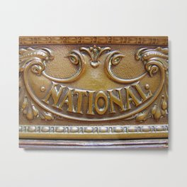 Antique National Cash Register 2 Metal Print